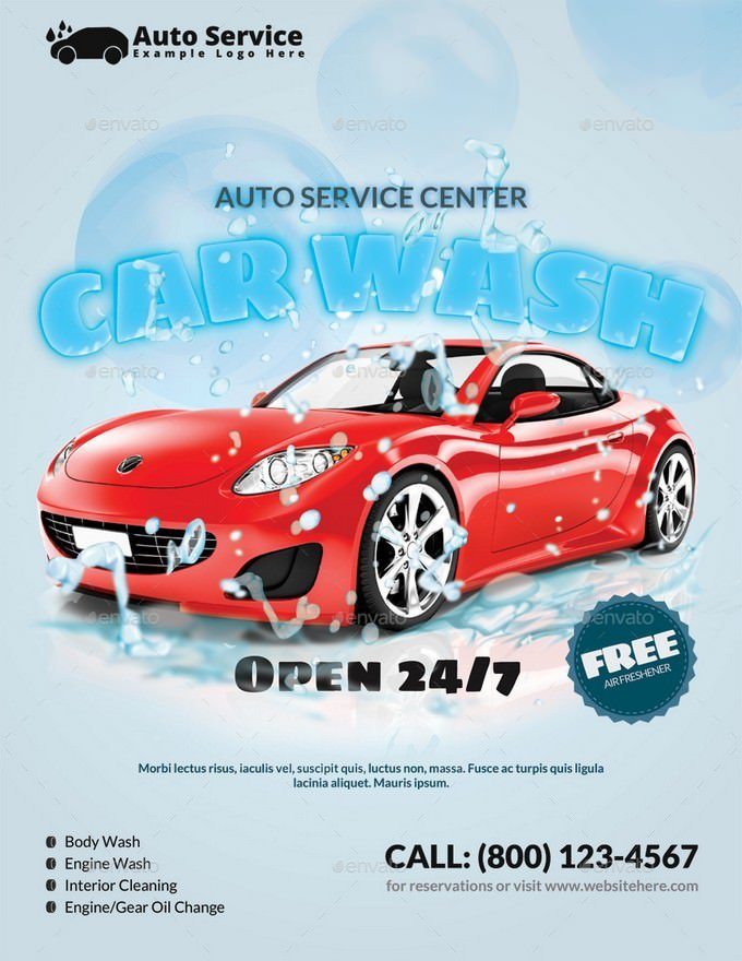 Auto Service Car Wash Flyer