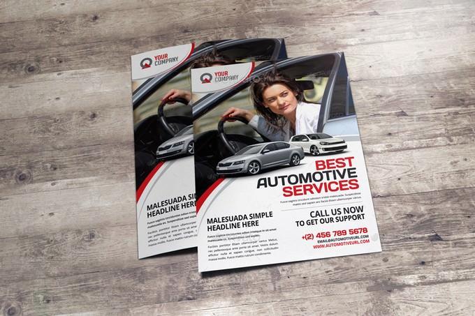 Automotive Car Sale Rental Flyer Ad v2