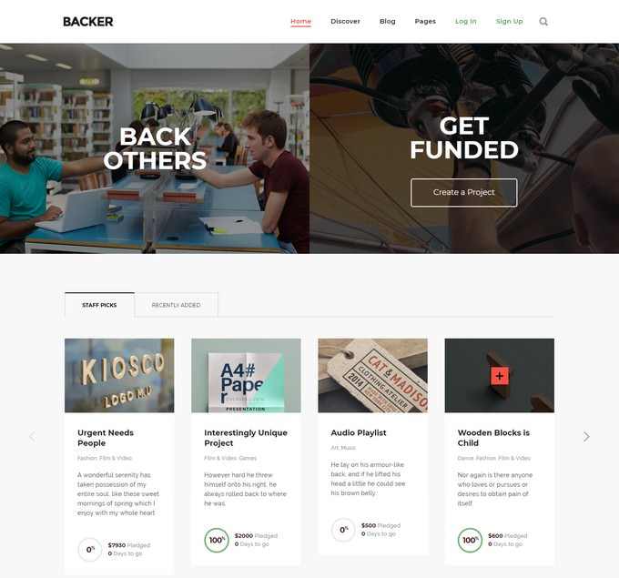 Backer - The Modern WordPress Crowdfunding Theme