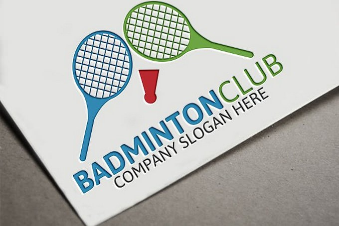 Badminton Club Logo tempalte