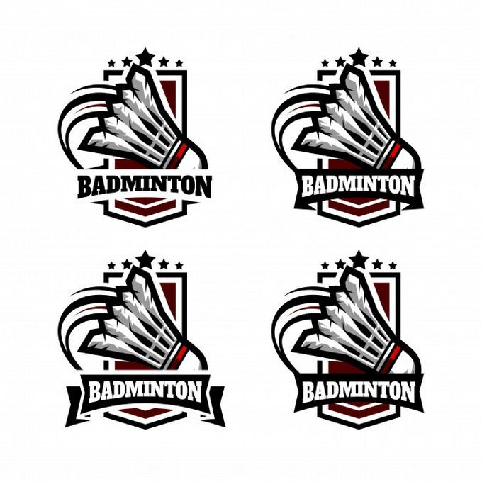 Badminton Military Badge Logo design