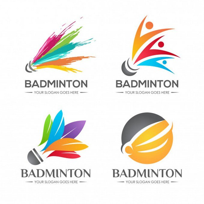 Badminton Logo Set