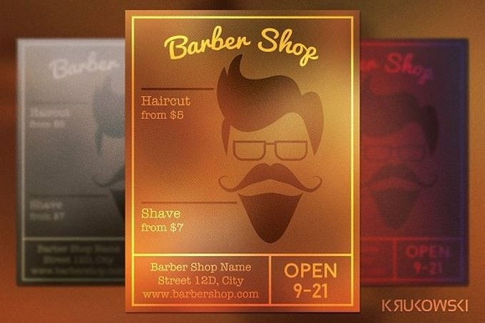 Barber Shop Hipster Flyer