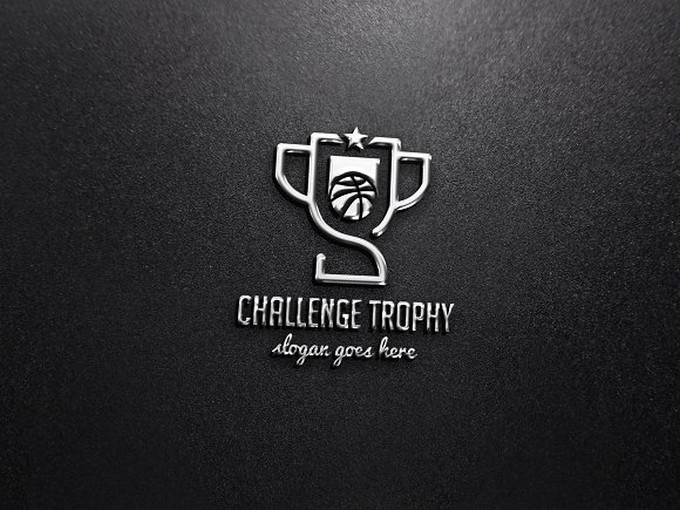 Basketball Challenge Trophy Logo template