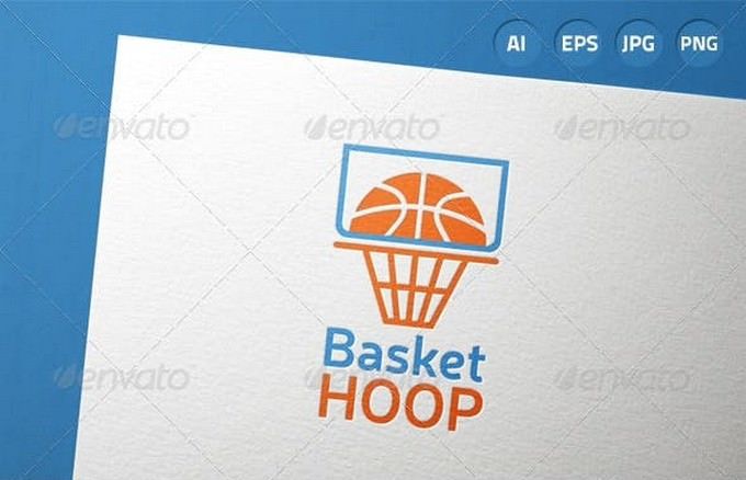 Basketball Hoop Game Logo template