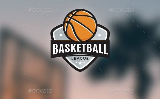 Basketball League Logo template