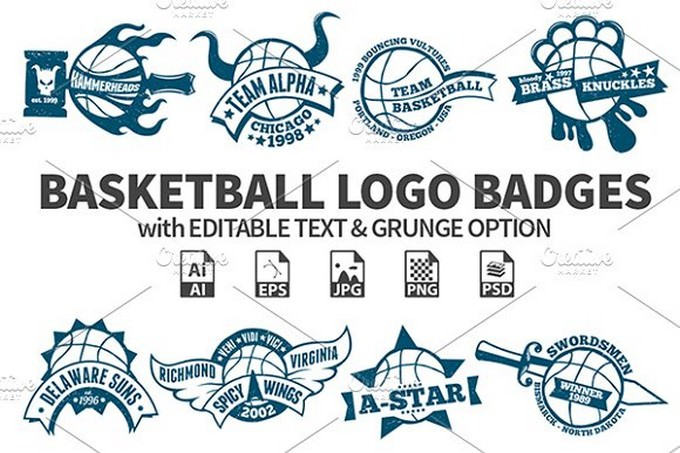 Basketball Logo Badges template