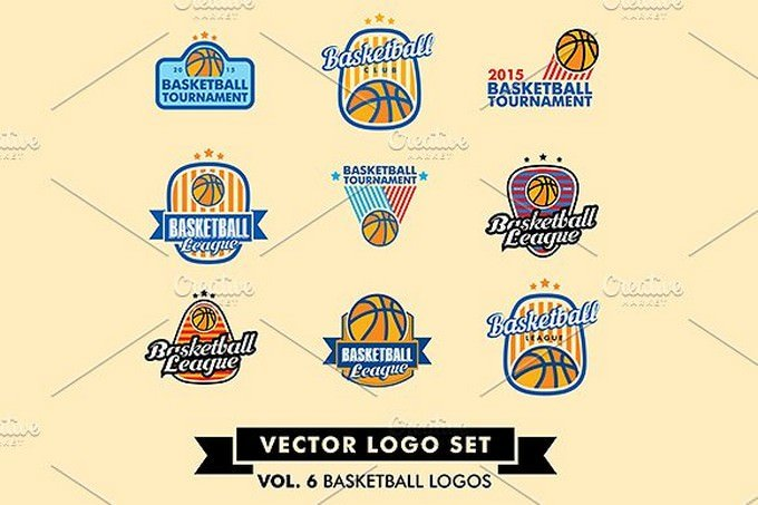 Basketball Logo Set design