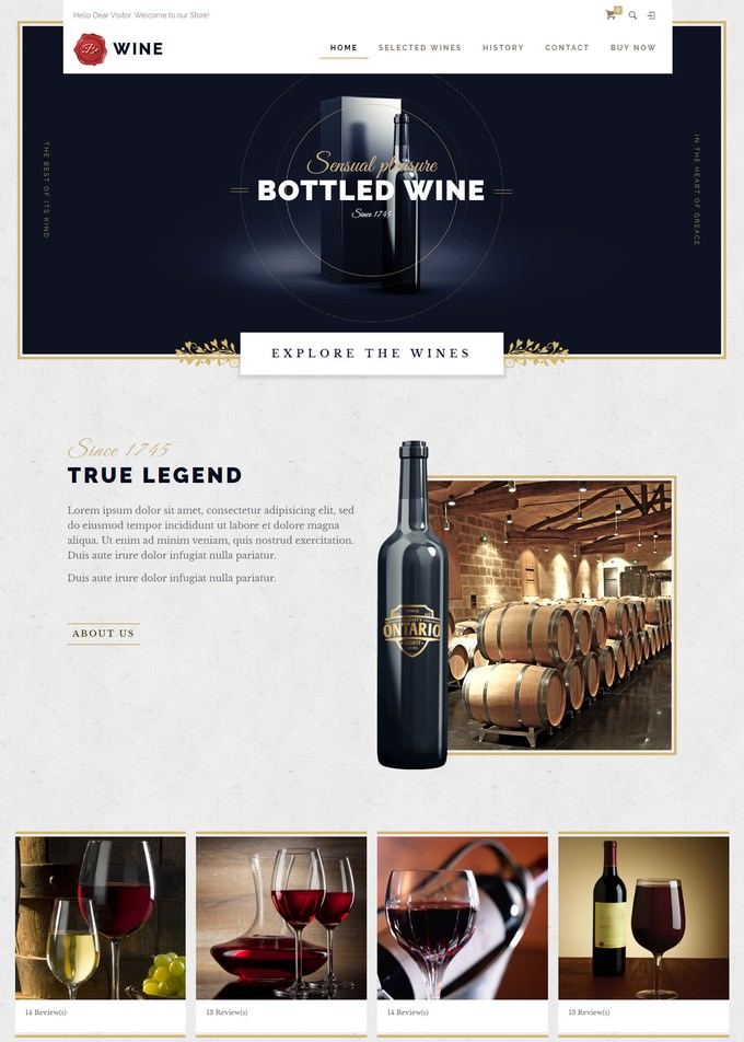 BeTheme - Responsive Wine Store Magento Theme