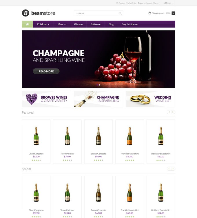 Beamstore - Wine Magento 2 Theme