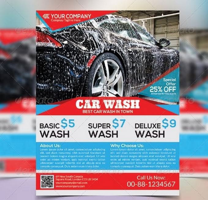 Best Car Wash Flyer Template