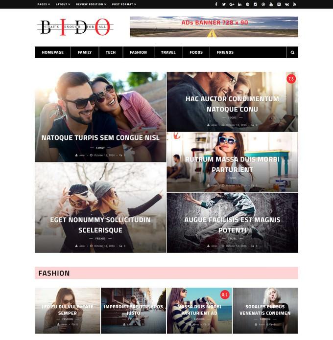 Bido - WordPress Blog & Magazine Theme