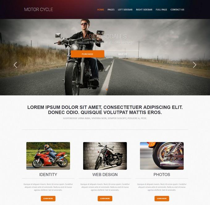 Bike Racing Web Template