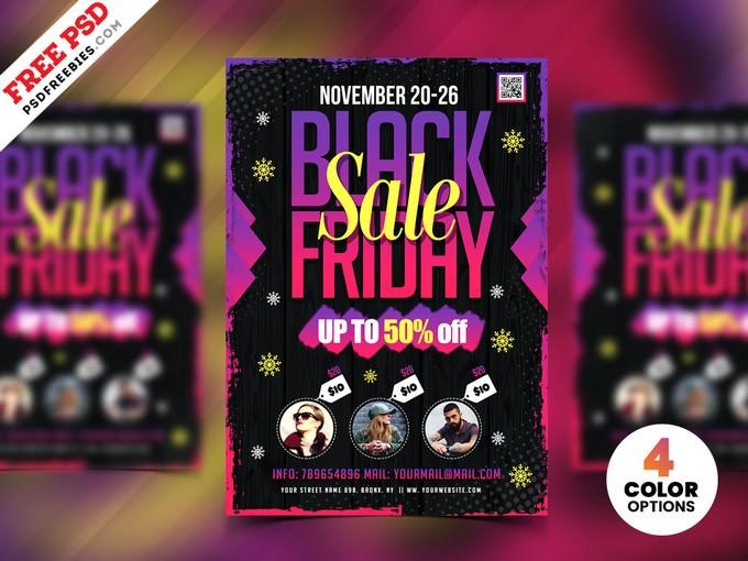 Black Friday Sale Flyer Design PSD