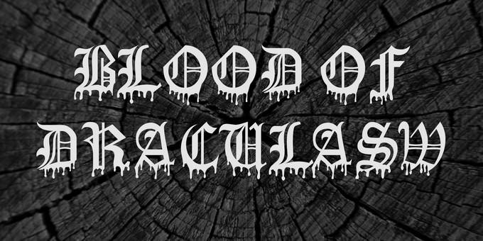 Blood Of DraculaSW Font