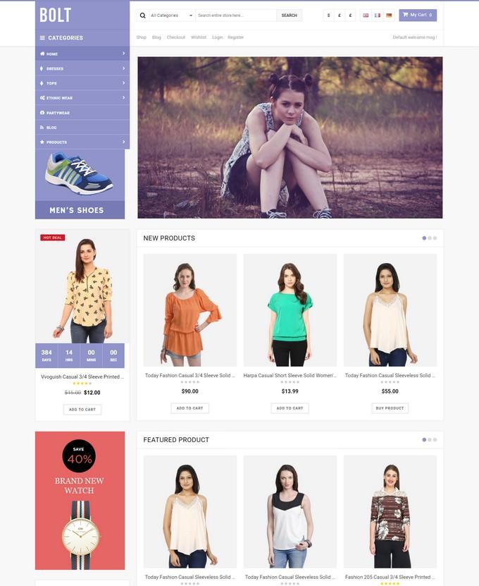 Bolt - Fashion Store WooCommerce WordPress Theme