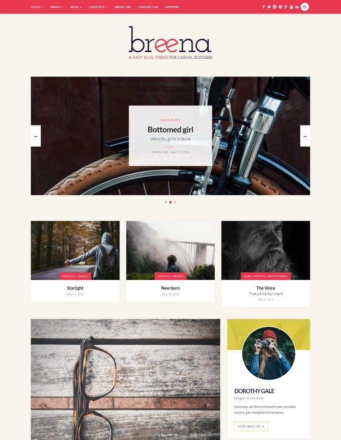 Breena - A Responsive WordPress Blog Theme
