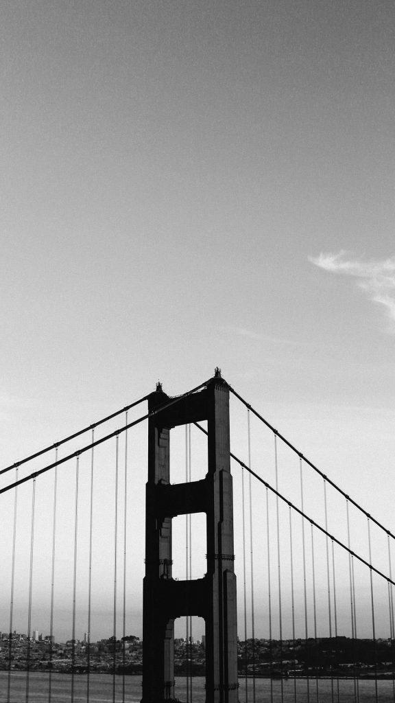 Bridge black and white iphone wallpaper 1080×1920