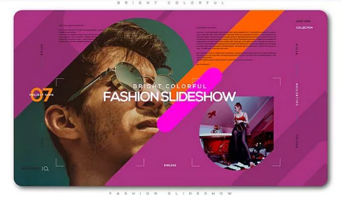 Bright Colorful Fashion– After Effects Slideshow Template