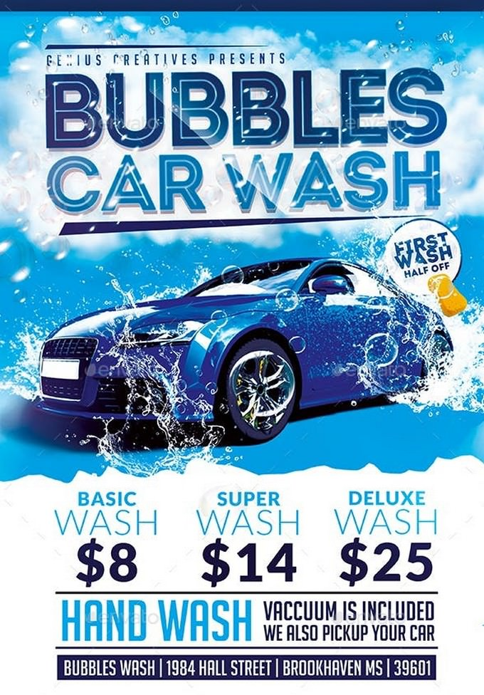 Bubbles Car Wash Flyer