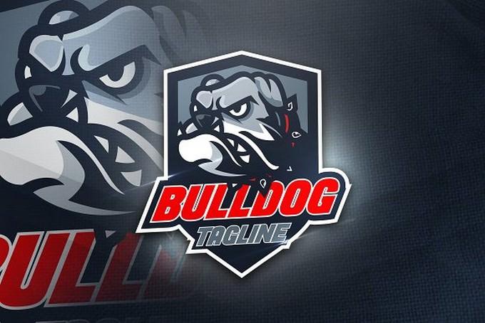 Bulldog Tagline-Mascot & Esport Logo