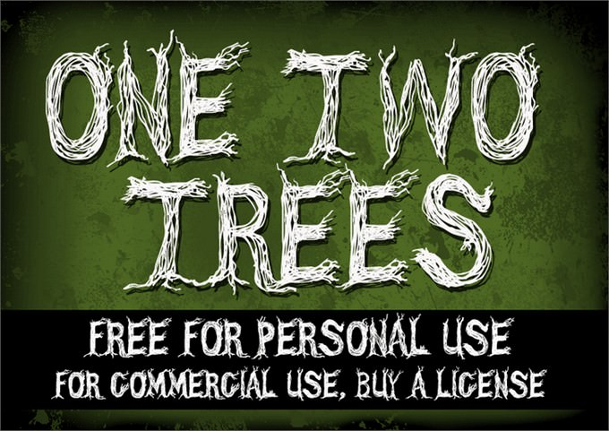 CF One Two Trees Font