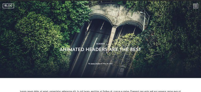 CSS Animated Header