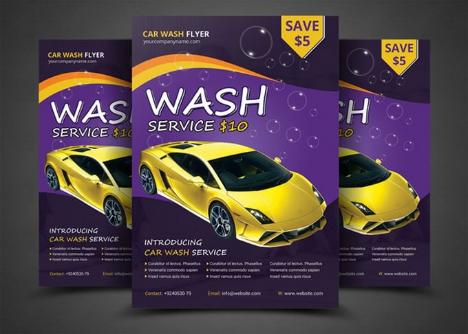 Car Wash Flyer Psd Template Free