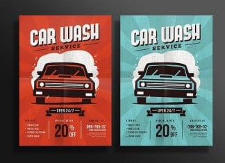 Car Wash Service Flyer Template