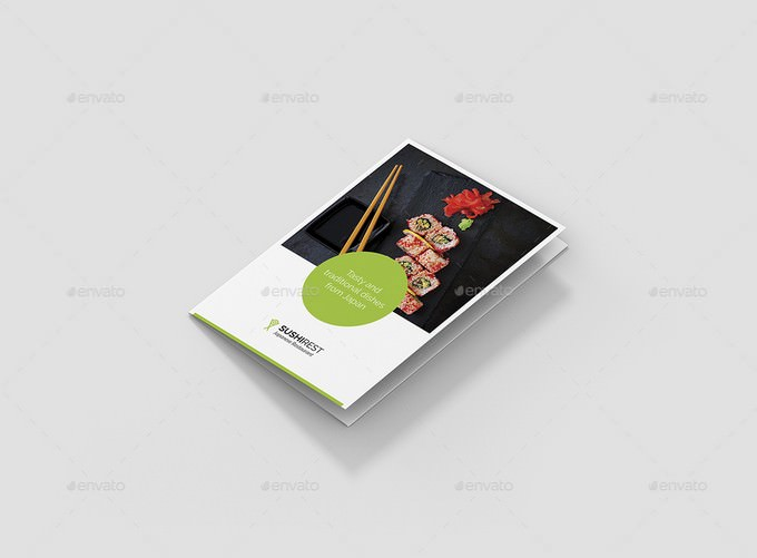 Caterer Brochure – Sushi Restaurant Tri-Fold