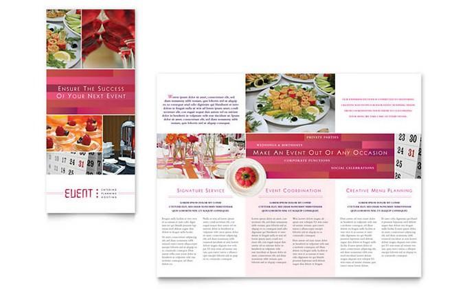Caterer Tri Fold Brochure Template
