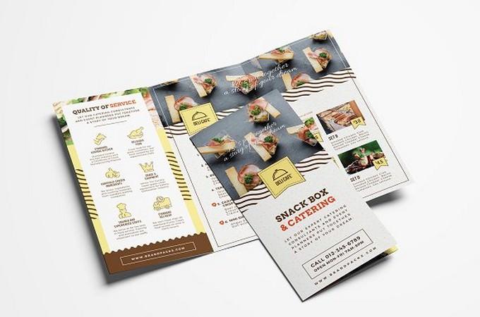 Catering Service Tri-Fold Menu Brochure