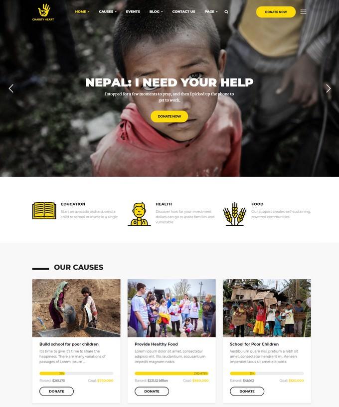 CharityHeart - Crowdfunding Responsive WordPress Theme