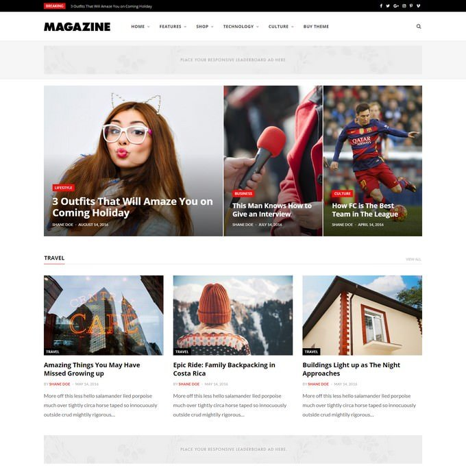CheerUp Blog Magazine - WordPress Blog Theme