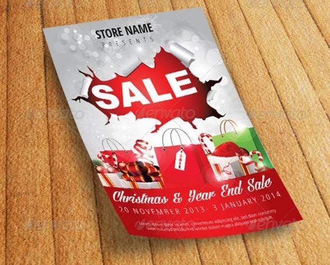 Christmas Sale Flyer Poster