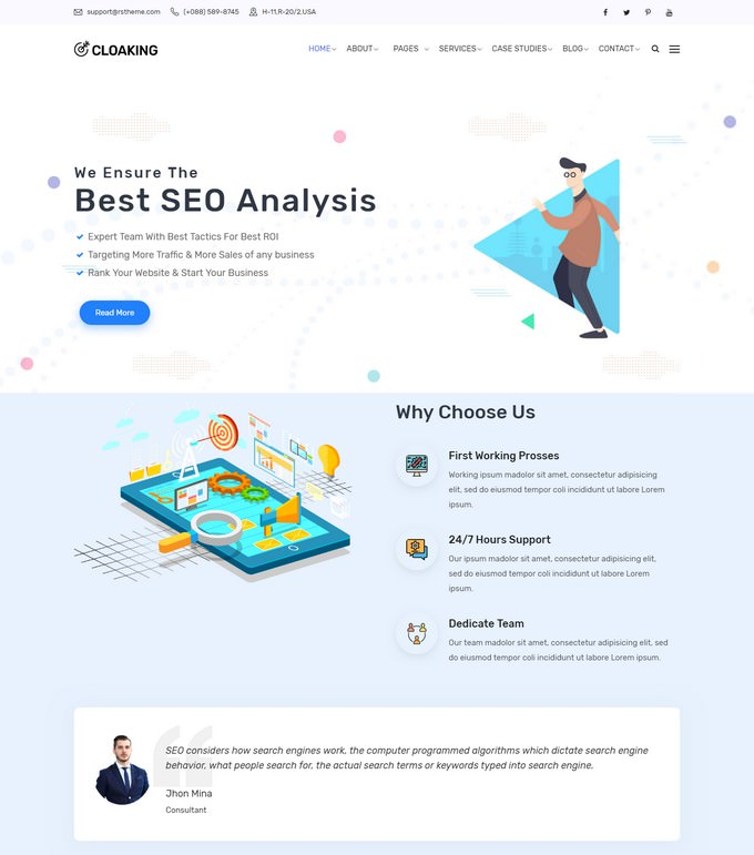 Cloaking - SEO & Digital Marketing Agency WordPress Theme