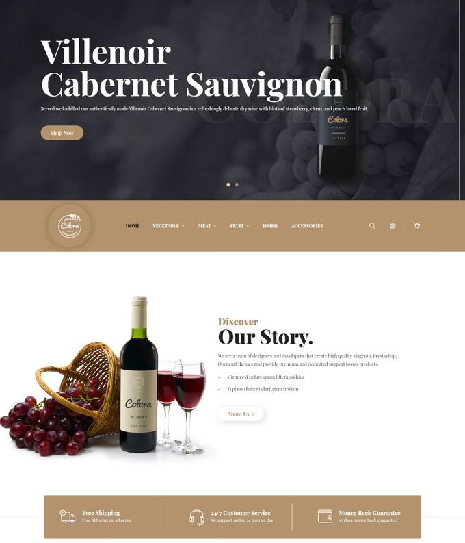 Colora - Wine Responsive Magento Theme