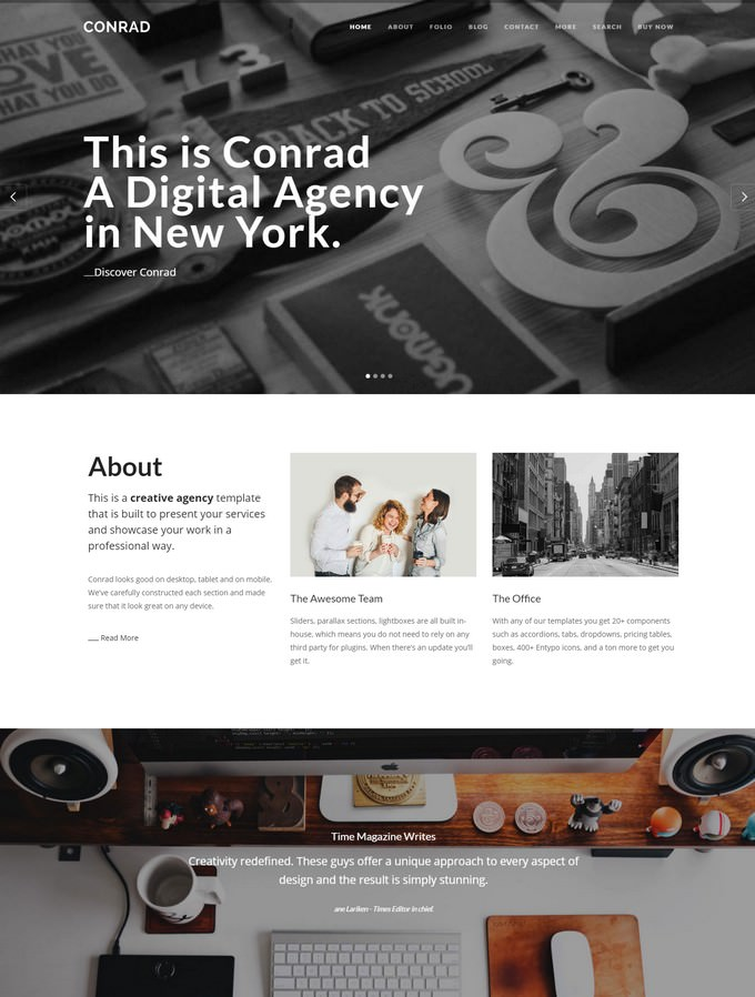 Conrad - Creative Agency WordPress Theme