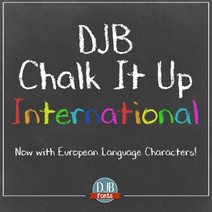 DJB CHALK IT UP Font