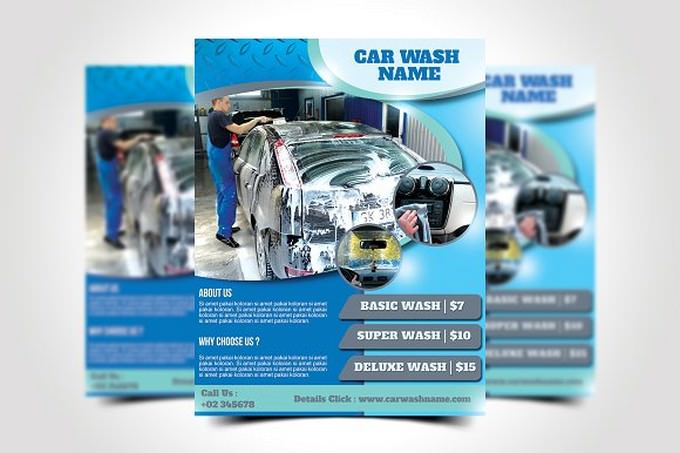 Delux Car Wash Flyer Template
