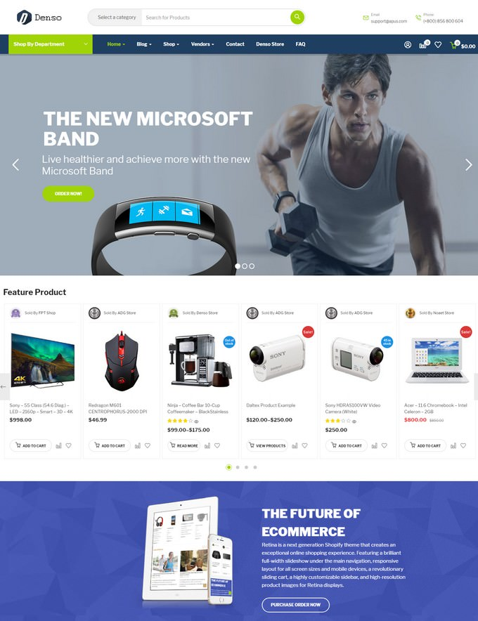 Denso - Advanced Electronics Store Woocommerce WordPress Theme