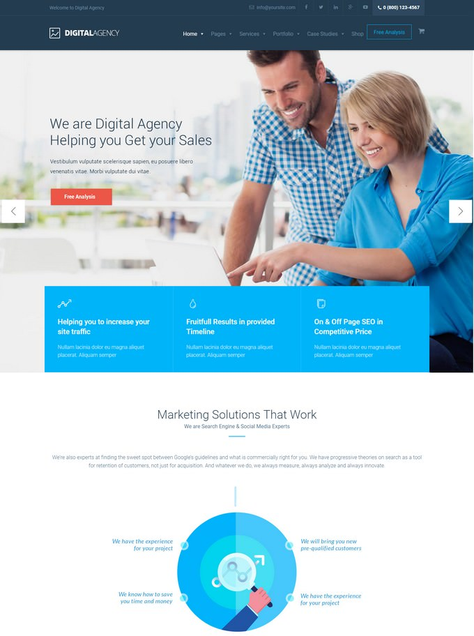 Digital Agency - SEO - Marketing WordPress Theme