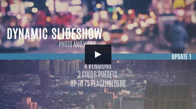 Dynamic– After Effects Slideshow Template