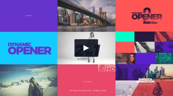 Dynamic Opener– After Effects Slideshow Template