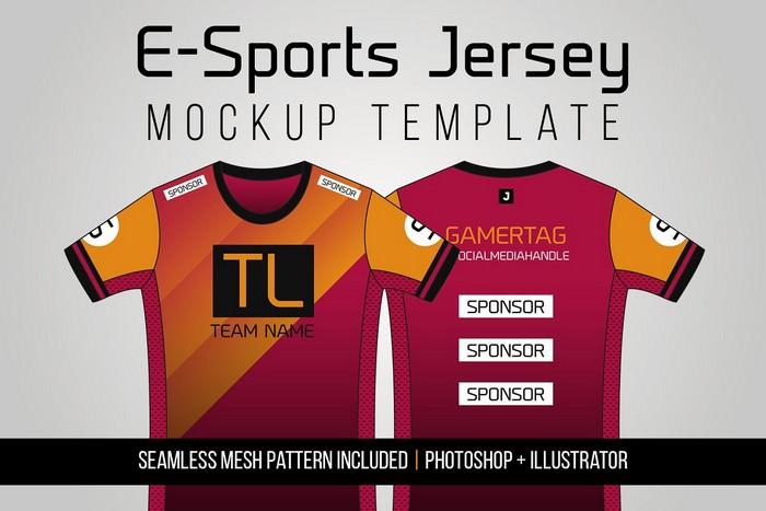 E-Sports Jersey Mockup