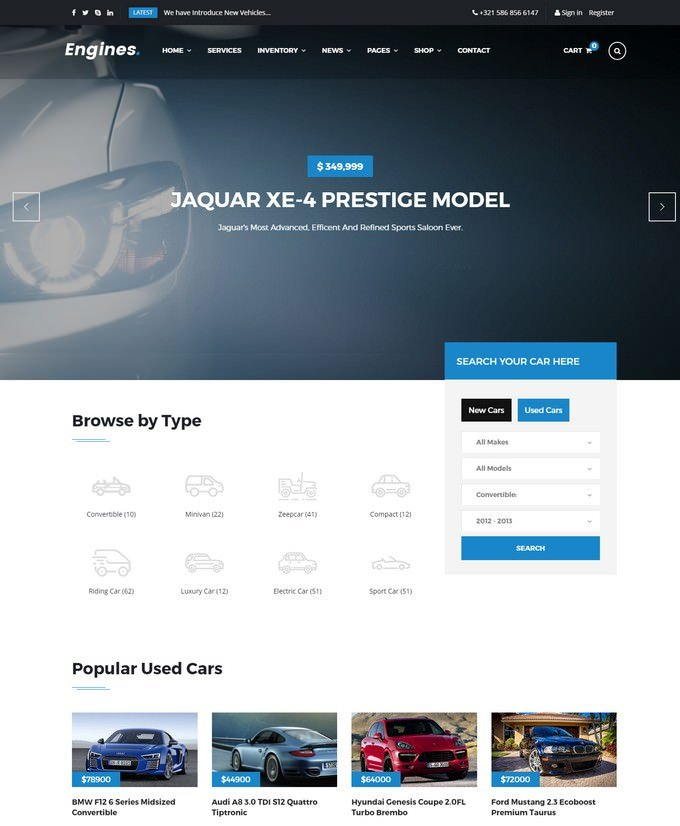 Engines Responsive Site Template