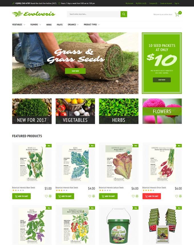 Evolveris - Gardening Store Magento Theme