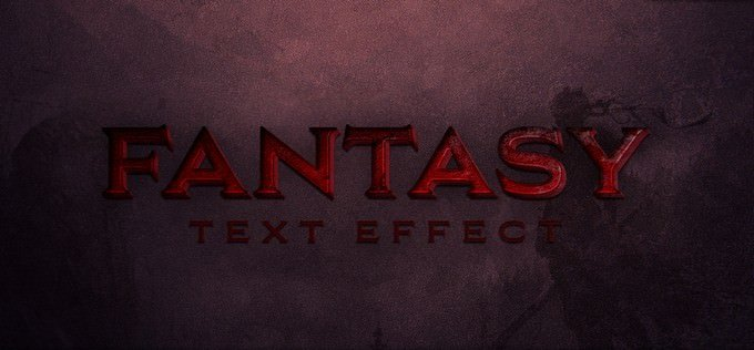 Fantasy Free Text Effect