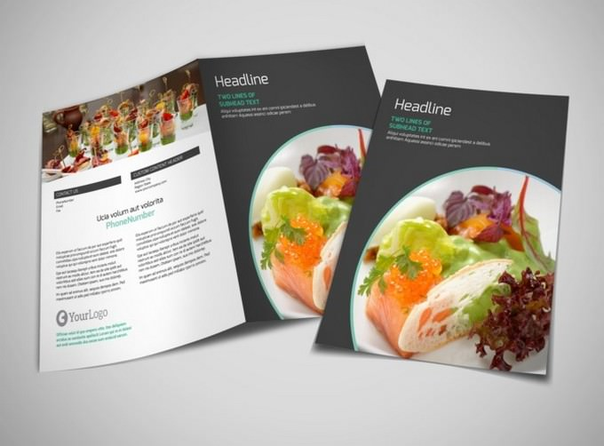 Fine Dining Catering Brochure Template