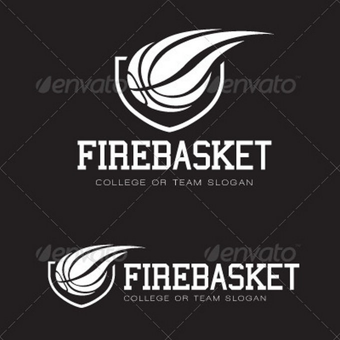 Fire Basket Logo template